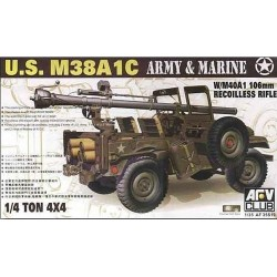 US M38A1C W/ M40A1 106MM RECOILLESS RIFLE