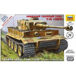 ZVEZDA_ TIGER I. GERMAN HEAVY TANK (EARLY PRODUCTION) SNAP FIT_ 1/72
