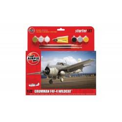 "AIRFIX_GRUMMAN F4F-4 ""WILDCAT""_STARTER SET_1/72"