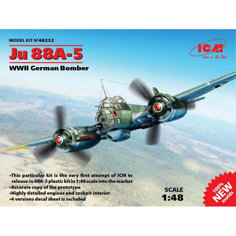 ICM_JU 88A-5, WWII GERMAN BOMBER_1/48