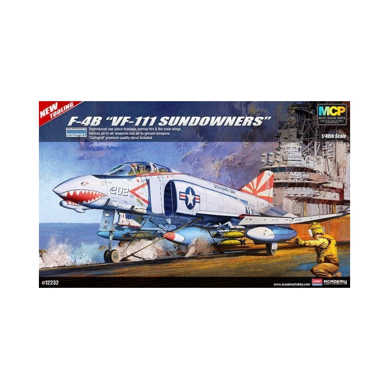 "Academy_USN F-4B ""VF-111 Sundowners"" (MCP)_1/48 caja"
