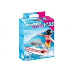 PLAYMOBIL_SPECIAL PLUS_SURFERA Y DELFIN