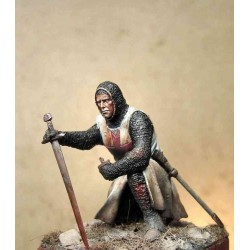 ART GIRONA_KNIGHT TEMPLAR, SECOND CRUSADE, XIIc_54mm