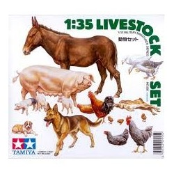 Tamiya_ Livestock Set. Animales de Granja_ 1/35