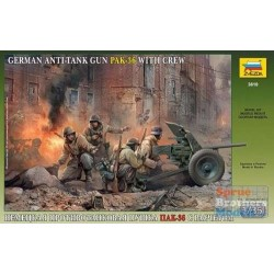 ZVEZDA_PAK-36 WITH CREW. GERMAN ANTI-TANK GUN_1/35