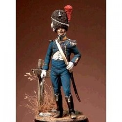 ROMEO MODELS_REING OF NAPLES, CARABINIERI COMPANY OFFICER, 1813-15_54mm
