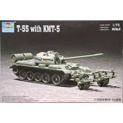 TRUMPETER_T-55 WITH KMT-5_1/72