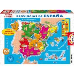 Educa 14870_ provincias de España_ Puzzle 150pcs.