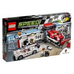 LEGO_SPEED CHAMPIONS_PORSCHE 919 HYBID AND 917K PIT LANE