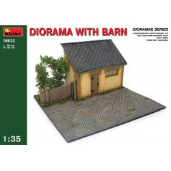 MINIART_DIORAMA WITH BARN_1/35
