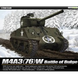 ACADEMY_ SHERMAN M4A3 (76)W BATTLE OF BULGE_ 1/35