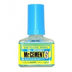 Mr.HOBBY_Mr.CEMENT PEGAMENTO PARA PLASTICO POR CAPILARIDAD. 40ml.