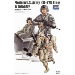 MODERN US ARMY CH-47D CREW & INFANTRY