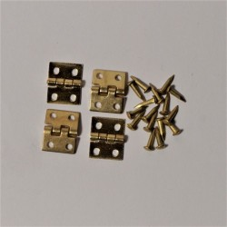 VEGA MINI_ BISAGRAS DE LATON x4 uds. 8x10 mm._ 1/12