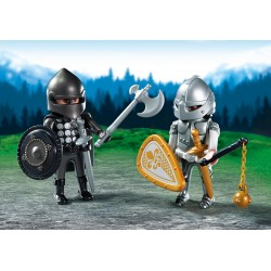 PLAYMOBIL_ DUO PACK_ DUELO CABALLEROS MEDIEVALES