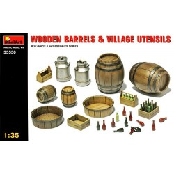 MINIART_ WOODEN BARRELS & VILLAGE  UTENSILS_ 1/35
