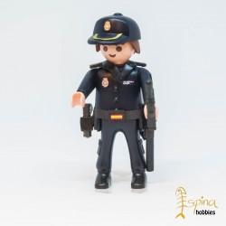 PLAYMOBIL CUSTOM_ POLICIA NACIONAL PELO MARRON