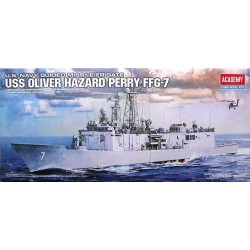 ACADEMY_ USS OLIVER HAZARD PERRY FFG-7, US NAVY GUIDED MISSILE FRIGATE_ 1/350