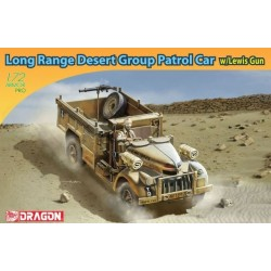 DRAGON_LONG RANGE DESERT GROUP PATROL CAR w/ LEWIS GUN_1/72