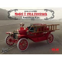 ICM_ MODEL T 1914 FIRETRUCK. AMERICAN CAR_ 1/24