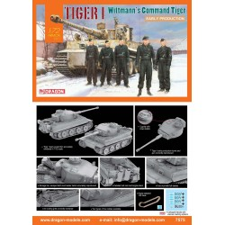 DRAGON_ TIGER I. WHITTMANN'S COMMAND TIGER. EARLY PRODUCTION_ 1/72 ARMOR PRO