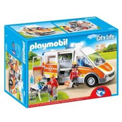 PLAYMOBIL_ CITY LIFE_ AMBULANCIA CON LUCES Y SONIDO