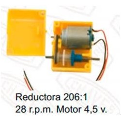 CHAVES_MOTOR CON REDUCTORA 3V. 24rpm