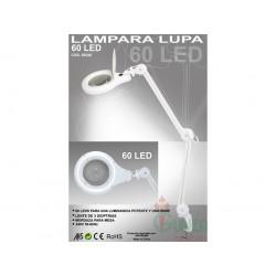 DISMOER_ FLEXO LUPA 5x LAMPARA 60 PUNTOS LED
