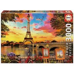 EDUCA_ PUESTA DE SOL DE PARIS_ PUZZLE 3000 piezas.