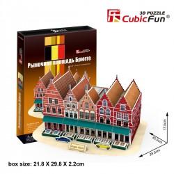 CUBIC FUN_ BRUGES MARKT, 3D PUZZLE