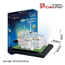 CUBIC FUN_ THE WHITE HOUSE (CON LUZ LEZ), 3D PUZZLE