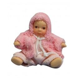 dollhouse dp127. Personaje de Bebe vestido de Rosa 1/12