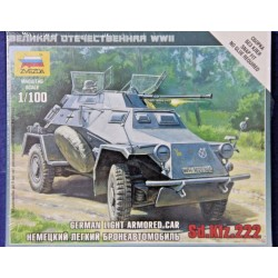 ZVEZDA_ Sd.Kfz.222 GERMAN LIGHT ARMORED CAR_ 1/100