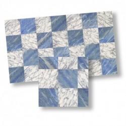 wm_ Suelo damero marmol azul/blanco 1/12