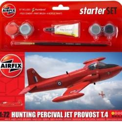 AIRFIX_ HUNTING PERCIVAL JET PROVOST T.4 (STARTER SET)_ 1/72