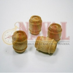 NAVAL_ BARRILES DE MADERA 10mm. 4uds.